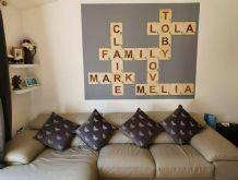 Large Scrabble Wooden  Wall Art Tiles , SOLID WOOD  9cm, 12cm, 20cm SIZES